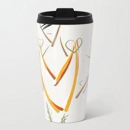 The fall dress II.  Metal Travel Mug