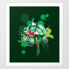 Heineken cap Art Print