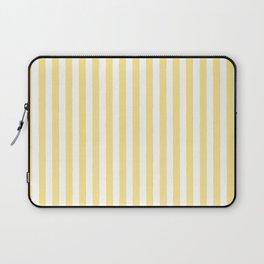 Modern geometrical baby yellow white stripes pattern Laptop Sleeve