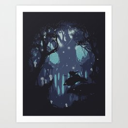kodama Spirit Art Print