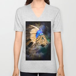 Fight For What You Love (Chief of Dreams: Leopard) Tribe Series Unisex V-Neck