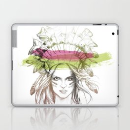 Indian woman (summer version) Laptop & iPad Skin
