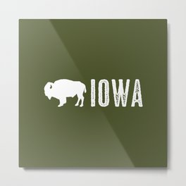 Bison: Iowa Metal Print