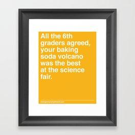 Best at the Science Fair Framed Art Print