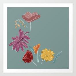 Fleurs des champs Art Print