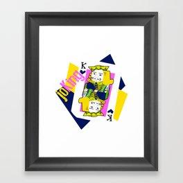 joKing Framed Art Print
