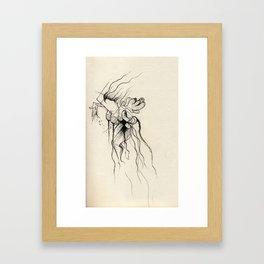Geometric Fairy Framed Art Print