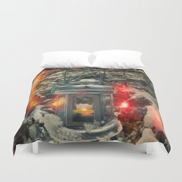 in a search for new adventures Duvet Cover