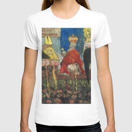 Doctrinal Nourishment (World Powers, Religion, Big Business) portrait painting by James Ensor T-shirt