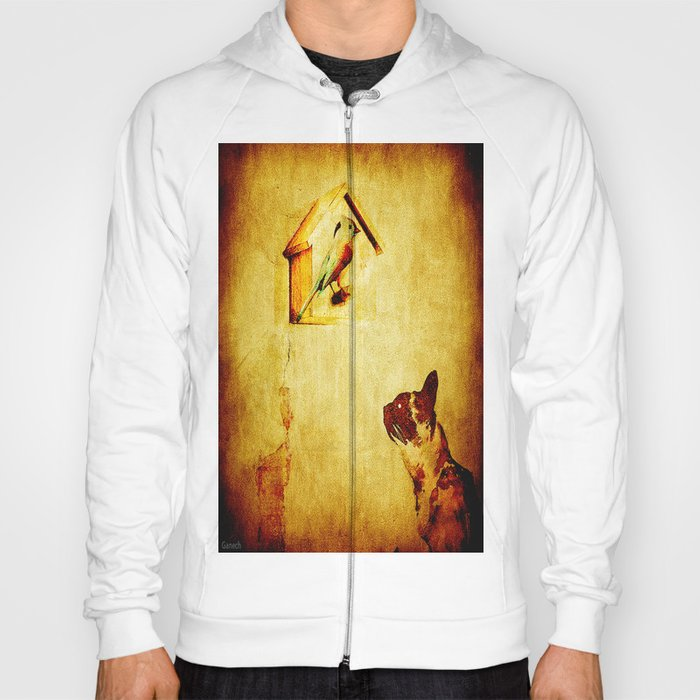 Cat and Bird Hoody