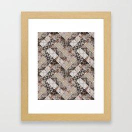 Combined ethnic pattern. Patchwork.3 Framed Art Print