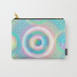 Orb mandala 3 baby blue Carry-All Pouch