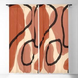 Primary Color Abstract Shapes Series Two   Red Modern Minimalist Home Decor Pattern Blackout Curtain
