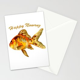 Elegant Happy Nowruz Goldfish Persian New Year Stationery Cards