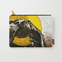 Crow Flying at Night Carry-All Pouch