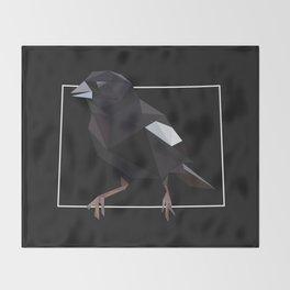 Colorado – Lark Bunting (Black) Throw Blanket