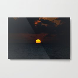 melting sun Metal Print
