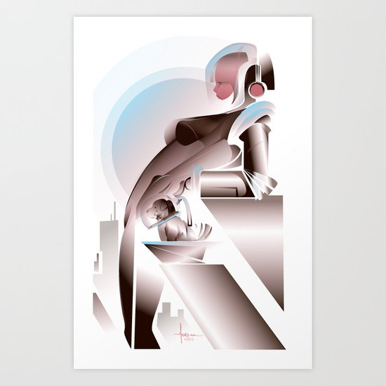 ANTICIPATION-White 2013 Art Print