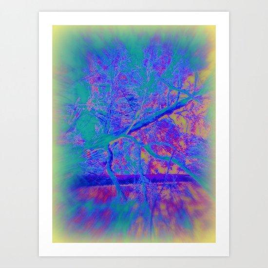 Trippin' thru the forest Art Print