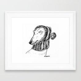 winter greyhound Framed Art Print