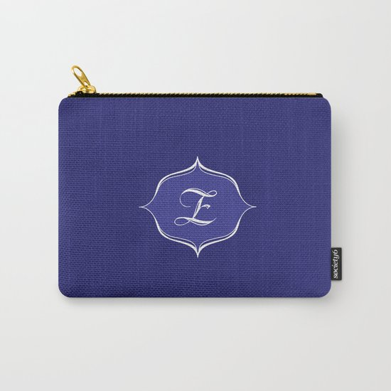 Z Monogram Royal Blue Carry-All Pouch