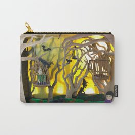 Into the Woods Paper ARt Carry-All Pouch