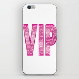 VIP Pink iPhone Skin