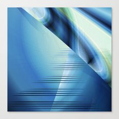 Blue abstract 2016 Canvas Print