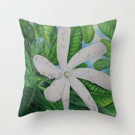 Tiare Tahiti Throw Pillow