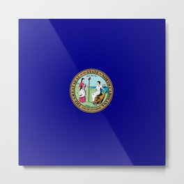 seal of north carolina Metal Print