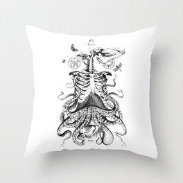 Engraving - Chimera_01 Throw Pillow