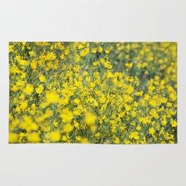 Beautiful shiny yellow Rug