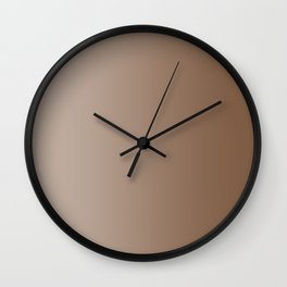 Pastel Brown to Brown Vertical Linear Gradient Wall Clock