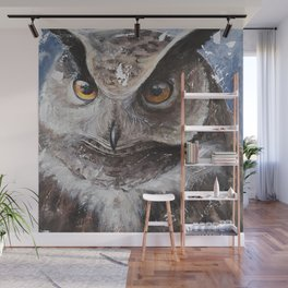 """The Owl - """"Watch-me!"""" - Animal - by LiliFlore Wall Mural"""