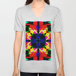 Abstract RR Y Unisex V-Neck