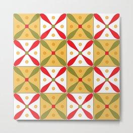 Egypt national tile pattern Metal Print
