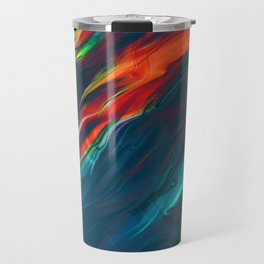 fly away, dramatic colors light the way Travel Mug