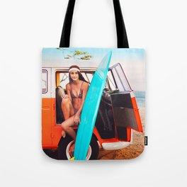 Van — Surf, Beach Tote Bag