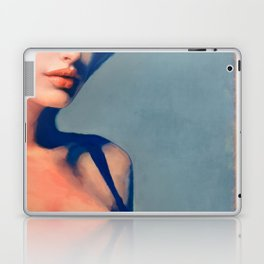 Portrait Of Young Woman With Large Eyes Laptop & iPad Skin