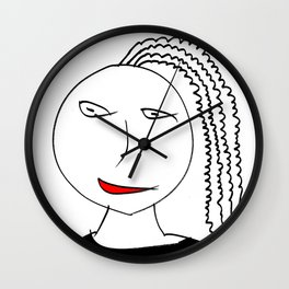 Girl with plait Wall Clock