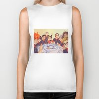 haikyuu Biker Tanks featuring Post Practice Lunch by AndytheLemon
