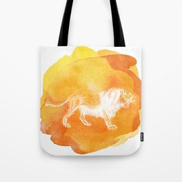 Color Spot Safari Lion Tote Bag