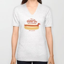 I'm a wiener dog not a hot dog. Unisex V-Neck