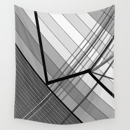 Gray Geometry 2 Wall Tapestry
