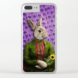 Miss Bunny Lapin in Repose Clear iPhone Case