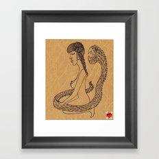 SnakeGirl Framed Art Print