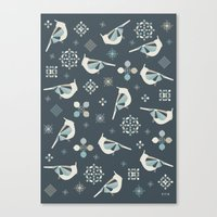 calendars Canvas Prints featuring Petit Birds by Poppy & Red