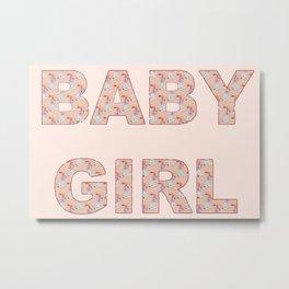 Baby Girl Pastel Pink Celebration Metal Print