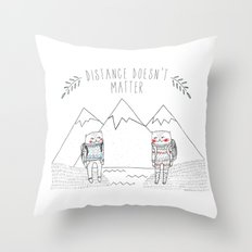 distance cat Throw Pillow