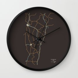 Vermont Highways Wall Clock